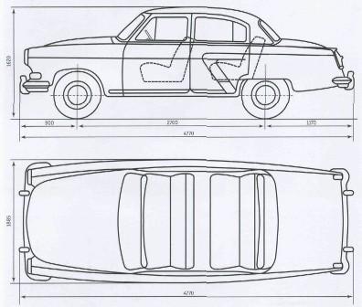Схема автомобиля «Волга» ГАЗ-