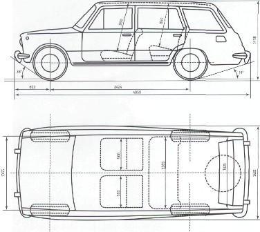 Схема автомобиля ВАЗ-2102